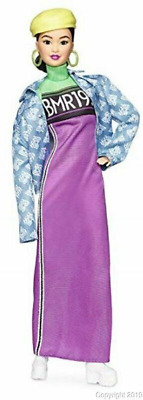 Barbie BMR1959 Fully Poseable Fashion Doll, Brunette, in Neon Multi Color