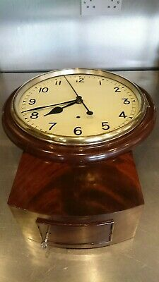 Fusee Clock Unusual Centre Seconds Deadbeat Spares Or Repairs Revised Info