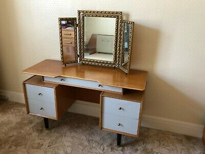 E Gomme G Plan Chinese White Mid Century Dressing Table