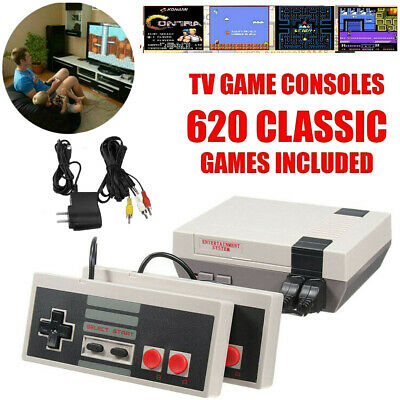 Vintage Retro Mini TV Game Console Classic 620 Built-in Games for 2 Players