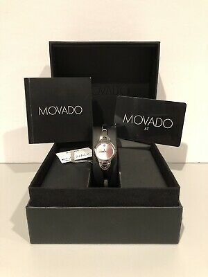 MOVADO Luxury Women's Watch PINK Face 84A11846 KARA Model Brand New in Box!