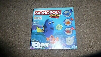 HASBRO GAMING MONOPOLY JUNIOR DISNEY PIXA FINDING DORY Age 5+ exclusive tokens