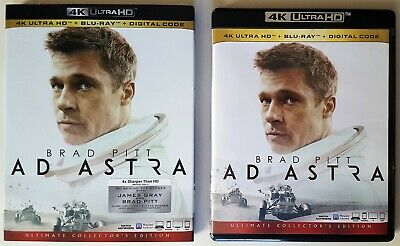 AD ASTRA (4K Ultra, Blu Ray) + Slipcover - Brad Pitt, Tommy Lee Jones NO DIGITAL