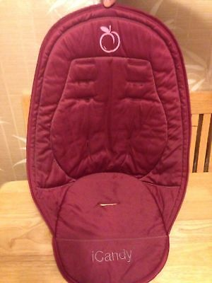iCandy Peach Main Seat Liner - Cranberry - with zip