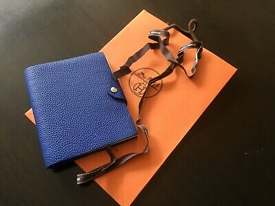 Hermes Ulysse Agenda Planner Pm Small Cover - Electric Blue Luxury Togo Leather