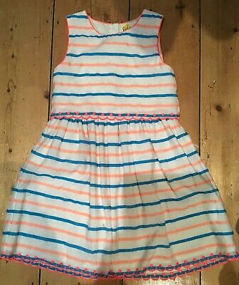 Stunning Girls Mini Boden Striped Dress age 9-10 worn once