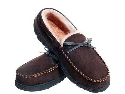 Men's Moccasin Warm Slippers Winter Shoes Indoor and Outdoor Very Comfortable