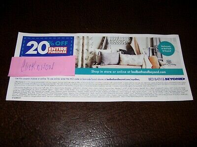 Bed Bath And Beyond 20% Off ENTIRE Purchase In-Store or Online!! WOW