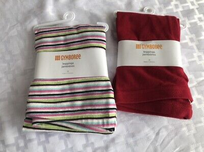 Gymboree Stripes and Solid Girls 12 Leggings