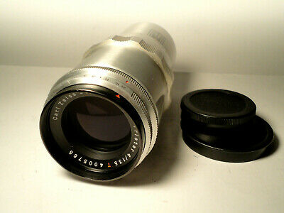 M42 Carl Zeiss Jena Triotar 1Q Red T 4/135 TOP Condition Vintage Lens 1:4 f=135