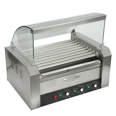 Machine Cooker Hot Dog - Frankfurters - Sausages Silver Italia 9 Rollers+Drawer