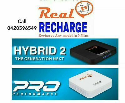 Realtv Recharge Works On Any Real Tv Box Real Hybrid 2 Real Tv Pro