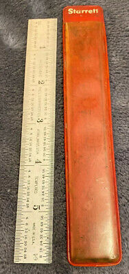 "Starrett No. C604RE-6 - 6"" steel ruler With Case!!!!!!"