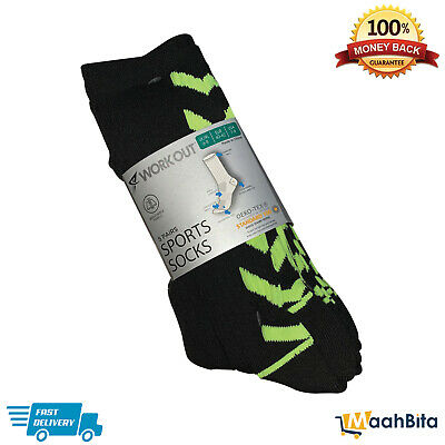 WORK OUT Men Tactel Training Gym Sports Running Exercise Workout Shoe Race Socks