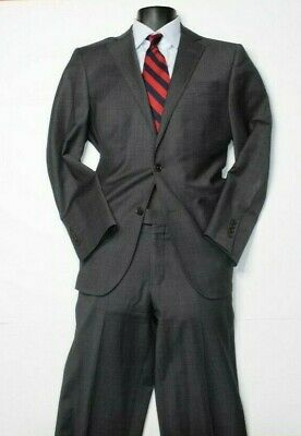 Brooks Brothers Regent Explorer Gray Wool Blend Nailhead Mens Classic Suit 40R