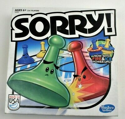 2013 Hasbro Sorry! Fire and Ice Board Game Family Kids Complete
