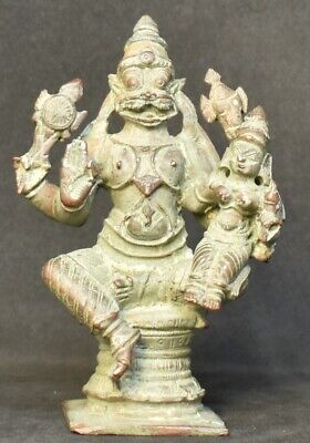 LakshmiNarasimha. Hindu God and consort. 3.5 inches.