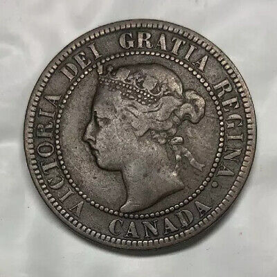 1896 Queen Victoria Large Canadian Penny Normal 6