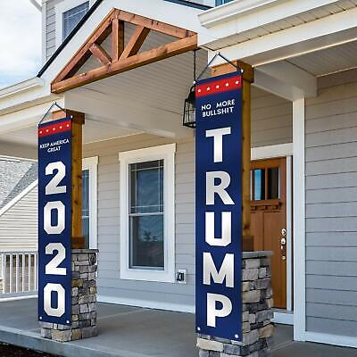 ORIENTAL CHERRY Trump 2020 Flag - No More Bull Keep America Great Large Banners