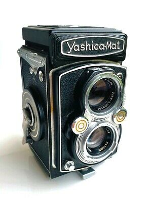Yashica YashicaMat 6x6 66 120 TLR Twin Lens Lumaxar Lens Film Camera **SUPERB**