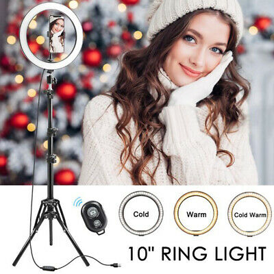 32pcs LED Ring Light Dimmable Lamp YouTube Video Make-up Selfie Camera Phone UK