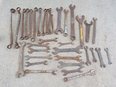 Huge Lot of Used Vintage Antique Wrenches Instant Mixed Collection SAE & Metric