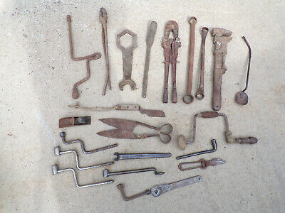 Huge Lot of Used Vintage Antique Tools Collection American Automotive Decor #13
