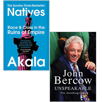 Natives Race and Class,Unspeakable The Autobiography 2 Books Collection Set NEW