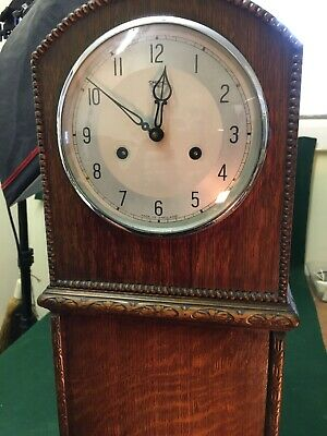 Smiths Of Enfield Grand Daughter Clock In Full Working Order With Key