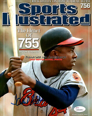 Henry HANK AARON SIGNED 8X10 AUTOGRAPHED PHOTO SPORTS ILLUSTRATED COVER