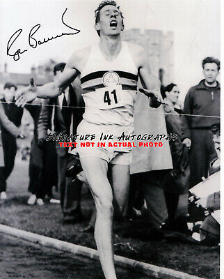 Sir Roger Bannister SIGNED 8x10 Olympics 1st 4 minute mile runner reprint