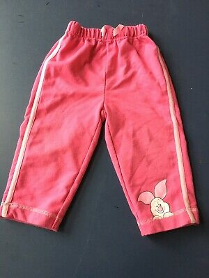 Baby girls track suit bottoms size 12 - 18 months pink Piglet design George