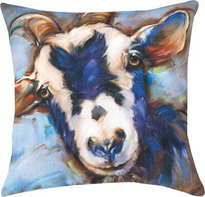 Otis the Goat Manual Woodworkers & Weavers Indoor/Outdoor Climaweave Pillow