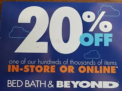 Bed Bath Beyond 20% off 1 Item -- Online Coupon -- Exp 03/17/2020