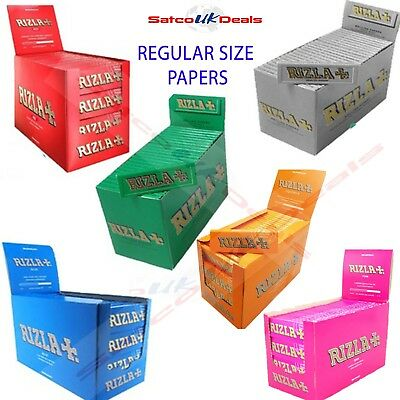RIZLA REGULAR SIZE Original Rolling Paper Cigarette GREEN BLUE NATURA PINK NEW