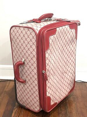 Lauren by RALPH LAUREN Wheeled Suitcase Red Signature Logo Luggage Bag