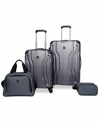 $300 TAG Legacy 4 Piece Luggage Set Hard side Suitcase Gray Spinner