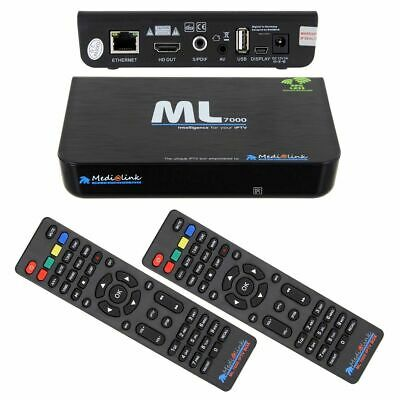 Medialink VOLKA IPTV PRO ML 7000  Box Receiver HDMI USB Full HD inkl. HDMI Kabel