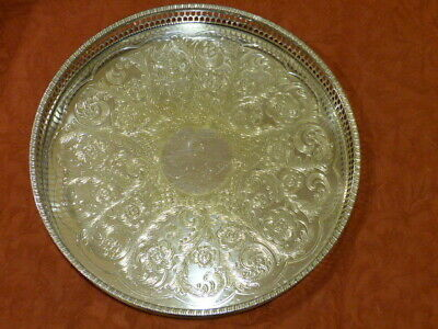 """Viners Of Sheffield"" Alpha Plate Chased Drinks/Serving Tray"