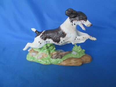 Springer Spaniel Dog Porcelain Figurine Fédération Cynologique International Rar