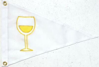 White Wine Glass Flag Or Pennant