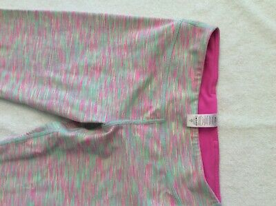 ivivva cropped leggings heathered pink/mint size 12