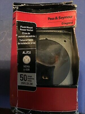 Pass & Seymour Range Receptacle 50A 50 Amp Flush Mount 3 Pole 2 Pole 3 Wire New