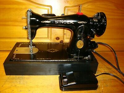 Wwii  Singer Sewing Machine Model  15-91, Heavy Duty, Gear Driven , Serviced