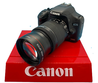 Hd Telephoto Zoom Lens For Canon Eos M200 Mirrorless  With 15-45Mm Lens