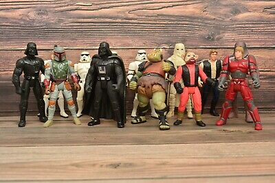 13 Vintage 90s Star Wars Kenner PVC Figure Lot Darth Vader Solo Luke Boba Fett