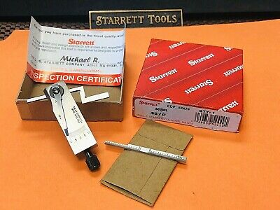 Brand New! STARRETT No. 457C Improved Diemakers Square. Complete Set. USA MADE.