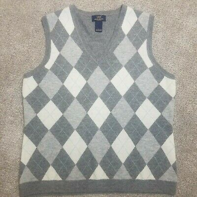 346 Brooks Brothers Mens Size Large Scottish 100% Lambs Wool Argyle Sweater Vest