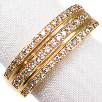 AUTHENTIC  Ring K18 Gold/diamond #16.5(JP Size) Women
