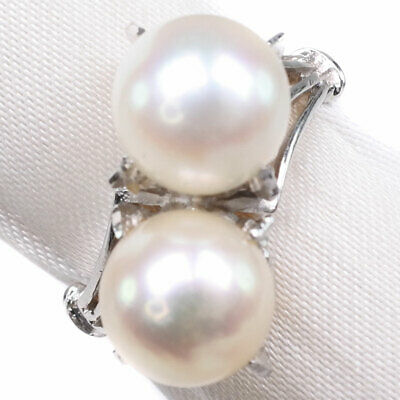 AUTHENTIC  Pearl Ring Pearl/14 white gold #12(JP Size) Women